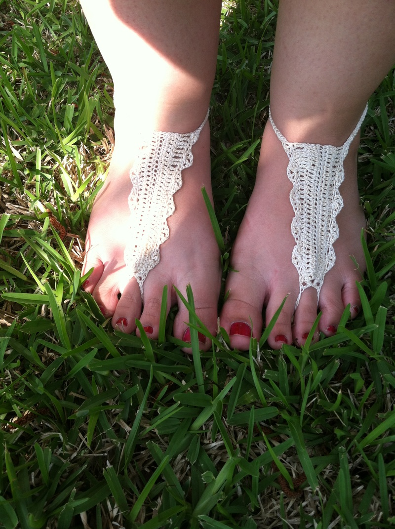 handmade, crochey, lacy, boho, barefoot sandals, anklets, beach, wedding, outdoor, summer, girly, cute, etsy, order