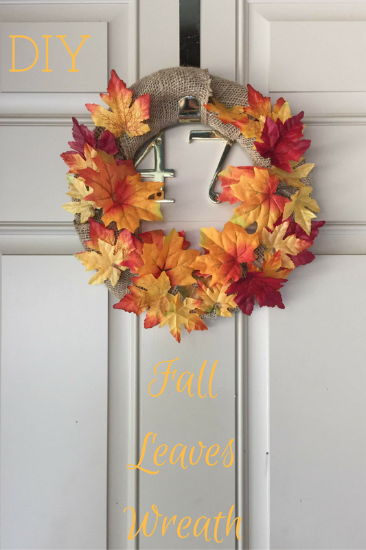 DIY Fall Leaves Wreath