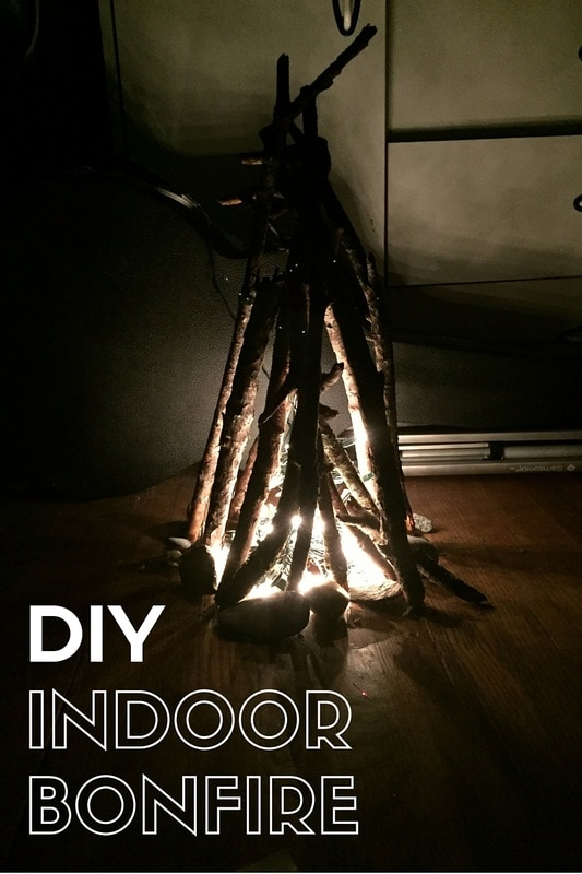DIY Indoor Bonfire