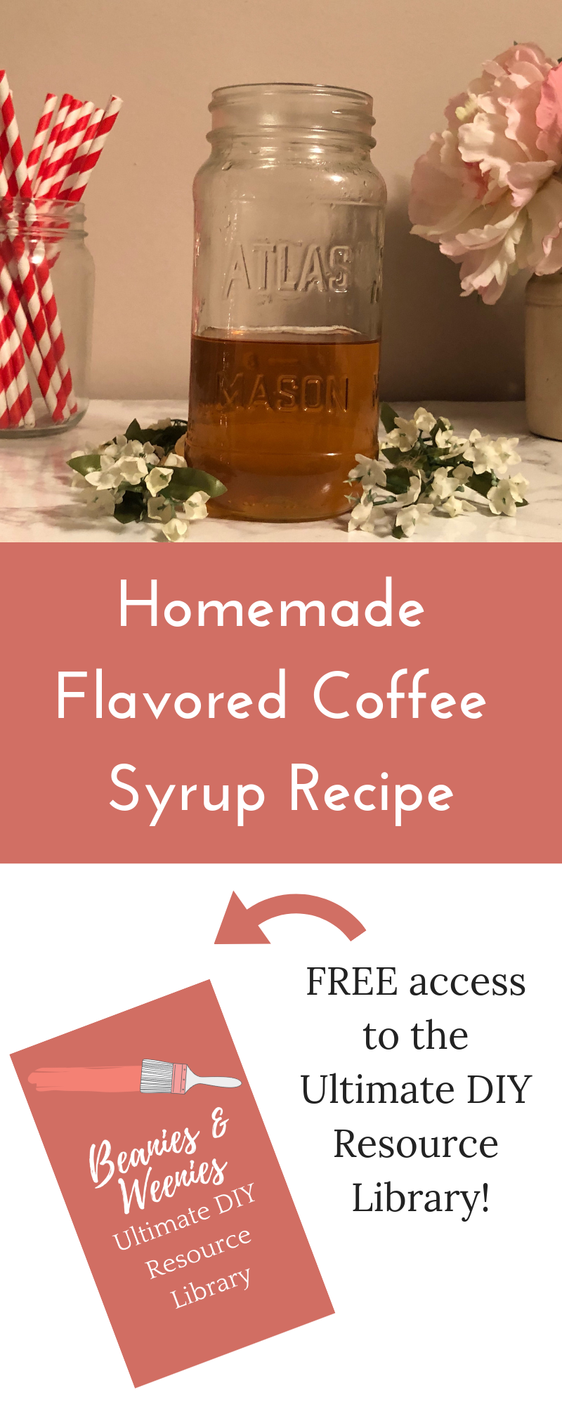 Homemade Flavored Coffee Syrup Recipe - Beanies & Weenies