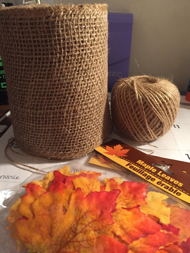Picture, Thanksgiving, DIY, Banner, Decor, Decorations, Holidays, Fall, Leaves, Burlap, Twine, Supplies, Materials