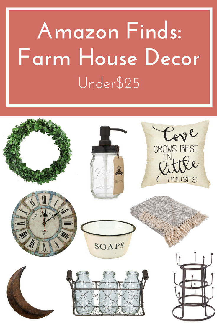 amazon finds farmhouse decor under $25