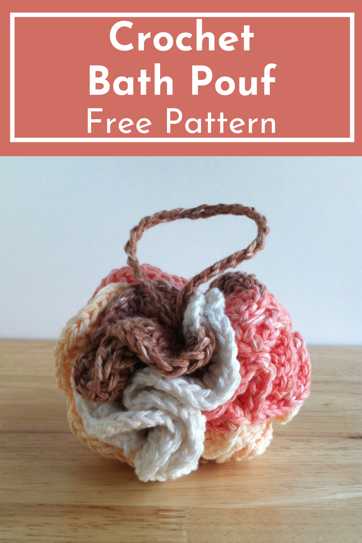 crochet bath pouf free pattern