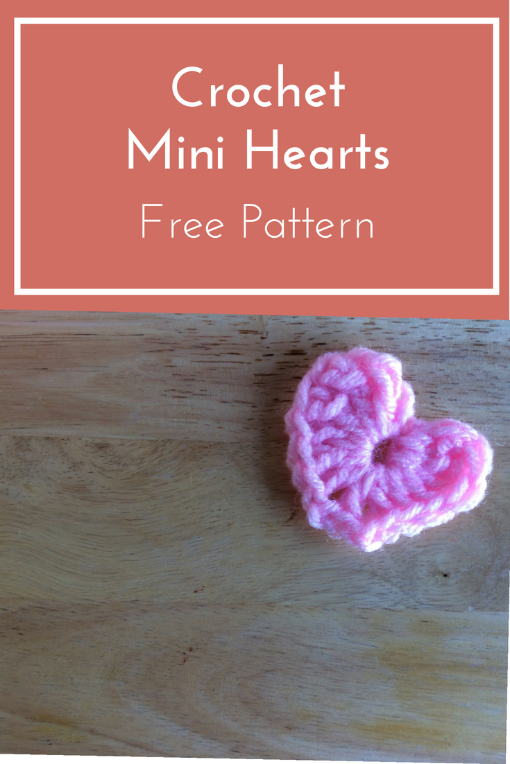 crochet mini hearts