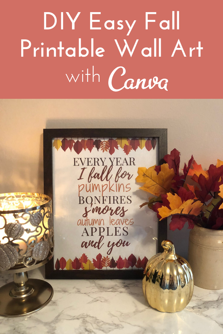 DIY Fall Printable with Canva