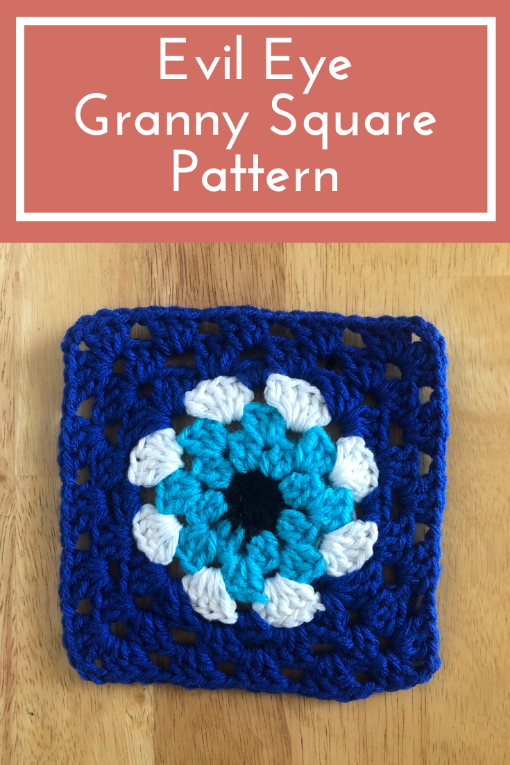 Evil Eye Granny Square Pattern | How to Crochet an Evil Eye Wall Hanging