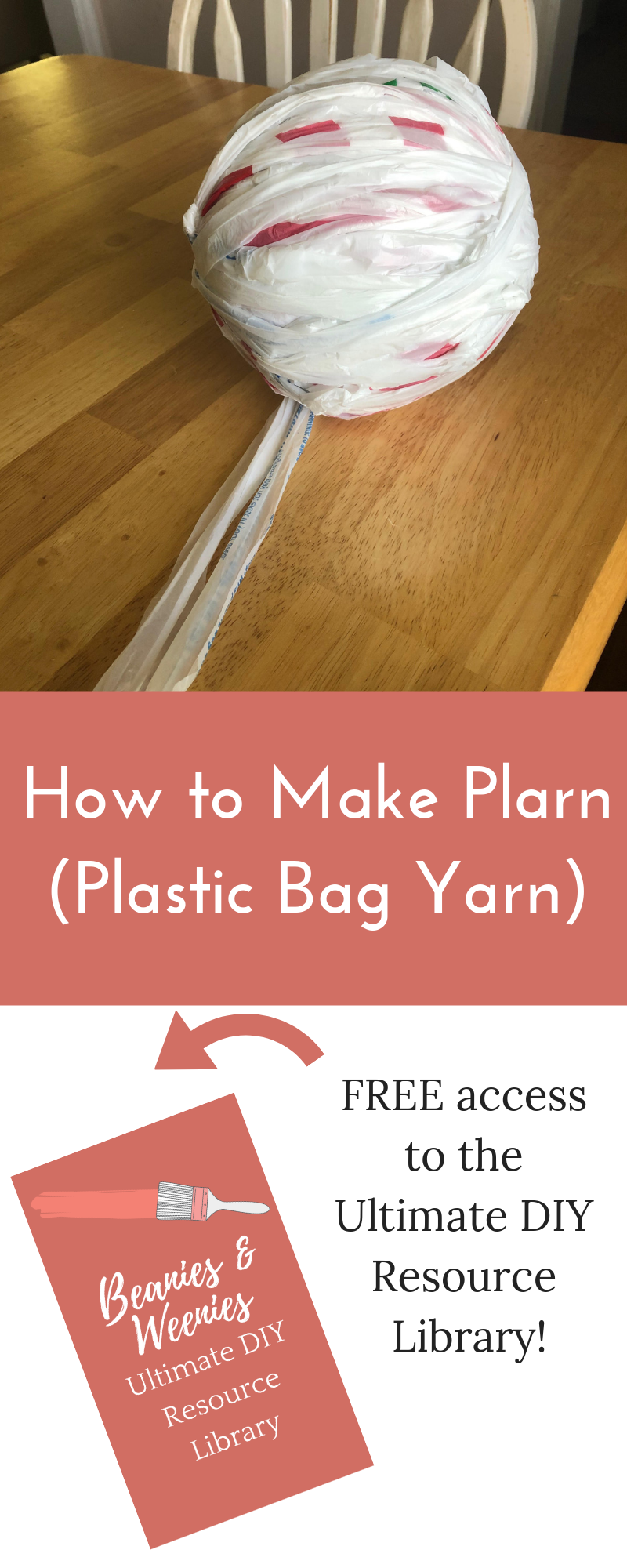 how to make plarn (plastic bag yarn)