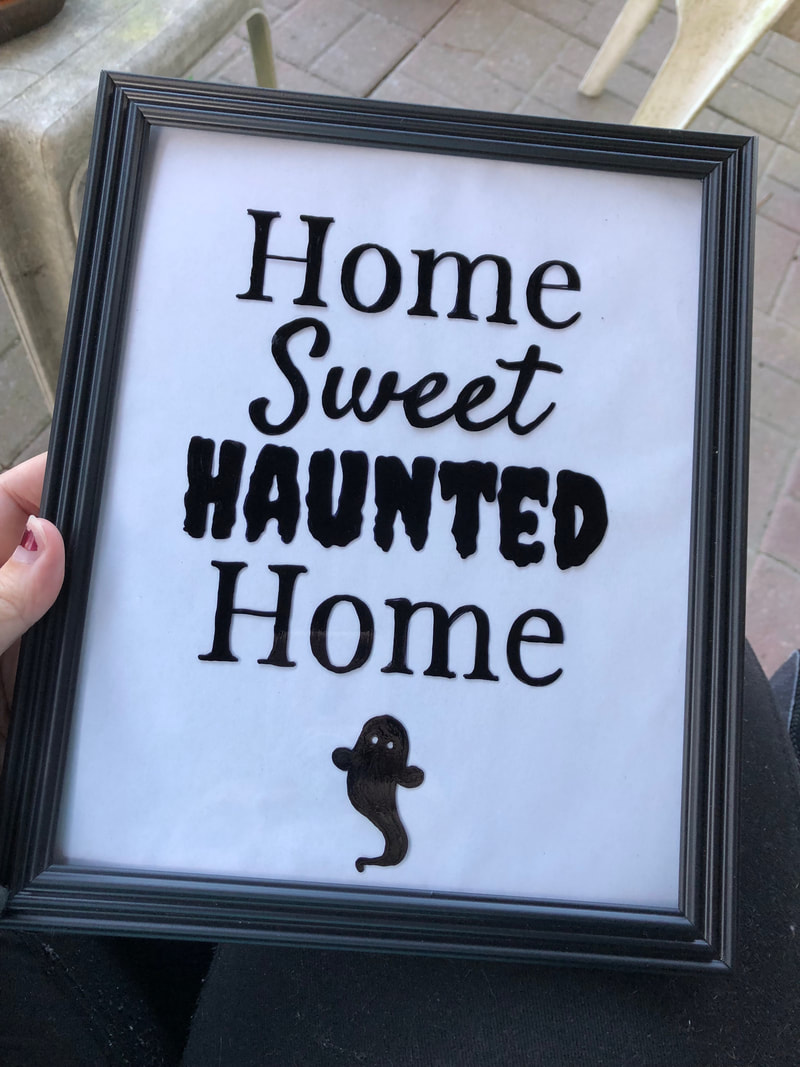 DIY Halloween Wall Decor with Canva | Home Sweet Haunted Home Step 12