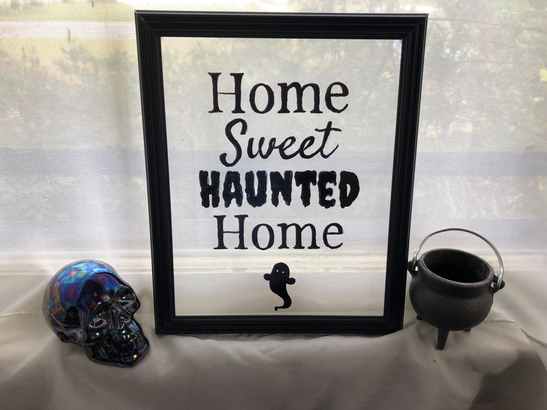 DIY Halloween Wall Decor with Canva | Home Sweet Haunted Home