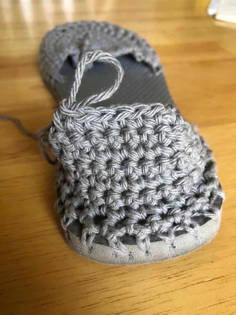 How to Crochet Sandals Out of Flip Flops | Crochet Shoes Free Pattern