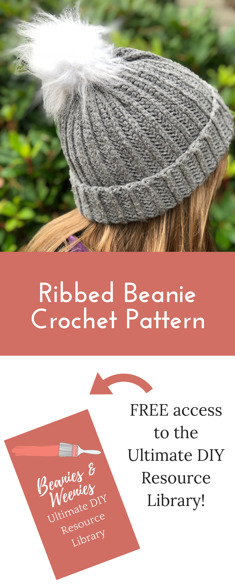 Free Ribbed Beanie Crochet Pattern