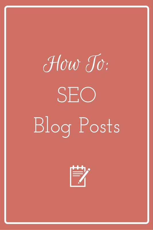 How to SEO Blog Posts